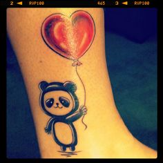 Just got a new tattoo :) Panda and Alpha love for @AlphaOmicronPi :)