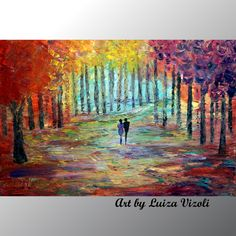 After+the+Rain-original modern landscape oil paintings from great american artist. Buy high quality wall art direct from artist. Original Artwork, Original Paintings, Oil Paintings, Couple Painting, Modern Landscaping, Large Canvas, Living Room Art, Abstract Oil, American Artists