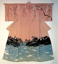 Kimono feminino com tema primaveril