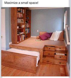 Great kids bedroom idea!