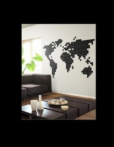 planisphere home pinterest typographie d corations murales et g ographie. Black Bedroom Furniture Sets. Home Design Ideas