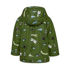 Buy Hatley Boys' Fun Bugs Raincoat, Khaki/Multi Online at johnlewis.com