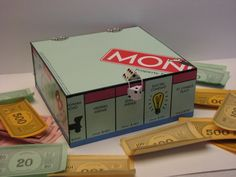Monopoly Game Board Storage Box-- Why are these so cool.. Oh I know why.. Because I'm weirdly into board games! (and card games and dice games and any games basically)