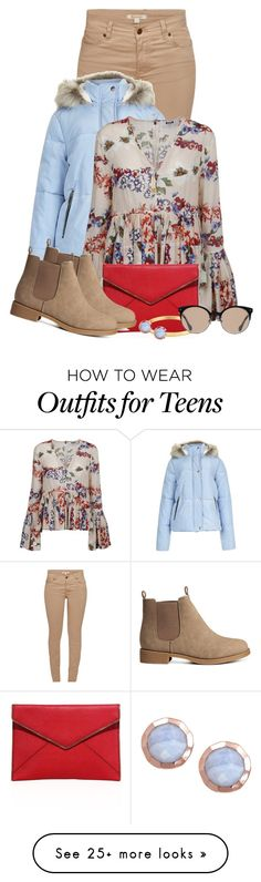 """""""Statement sleeved top"""" by hannahmarino1 on Polyvore featuring Barbour, New Look, MSGM, Rebecca Minkoff, H&M, Miriam Haskell, Kate Spade and Balenciaga"""