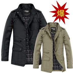 51.74$  Watch here - http://ali3hm.worldwells.pw/go.php?t=32602801708 - Jacket Men Chaqueta Hombre Hot Cotton Down Slim New Spring 2015 Men's Fashion Jacket Coat Tide Big Yards Section Padded Male 51.74$