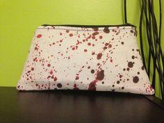 Blood Splatter Makeup Bag