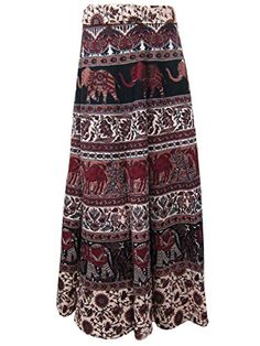 Wrap Skirt Dress Brown Cotton Printed Wrap Around Sarong Skirts for Womens Mogul Interior http://www.amazon.com/dp/B00RL54RAG/ref=cm_sw_r_pi_dp_RwOOub0C28TXR