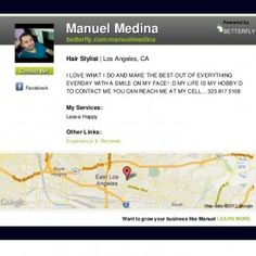 Manuel Medina Powered by BETTERFLY betterfly.com/manuelmedina Hair Stylist | Los Angeles, CAContact Me! I LOVE WHAT I DO AND MAKE THE BEST OUT OF EVERYTHING. http://slidehot.com/resources/manuel-medina-hair-stylist-in-los-angeles-ca.37527/
