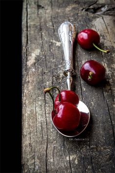 cherries and spoon