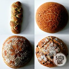 I was so excited to hit 1000 followers I #kneaded up a couple of #loaves of #bread. From top left clockwise we have a #pesto plait #tigerbread a #fennel and #sultana #loaf and a crusty white cob style loaf.  Thank you all so much for following and allowing me to share my food beyond the kitchen.