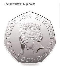UK royal mint released a coin to commemorate the brexit deal - Humour Spot Brexit Humour, Famous Princesses, Anti Brexit, 50p Coin, British Humor, Online Image Editor, Carrie Fisher, Stuff And Thangs, Daily Funny
