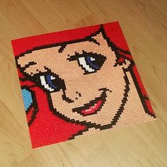 Ariel perler beads by beardolomaeus