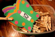 Butterfly math clothespin 1:1 correspondence