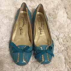 Gorgeous irregular choice flats These shoes are like new. Absolutely gorgeous color with gold detail. Only wear is on soles. Perfect condition otherwise. Runs a little small. Irregular choice Shoes Flats & Loafers