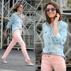via http://lookbook.nu/look/3116561-pastel-jeans-denim-shirt