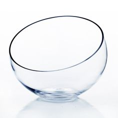 WGV Internatonal Clear Glass 10-inch Slant Cut Bowl Vase ** Click image for more details. (This is an affiliate link and I receive a commission for the sales)