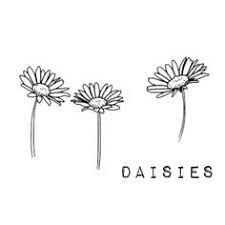 Resultado de imagen de black and white tattoo daisy