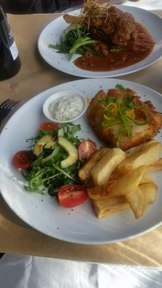 Hake and fries