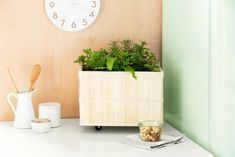 Discover how to turn a small Ikea basket into a DIY mobile herb garden. See all the steps here. For more Ikea hacks, head to Domino.