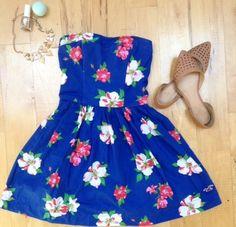 Dress    [url]: http://www.vinted.com/sh/clothes/15820232-hollister-floral-print-dress