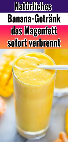 Natural detox drink that instantly dissipates stomach fat .- Natürliches Entgiftungs-Getränk, das Magenfett sofort verbrennt – Fitness Ge… Natural detox drink that burns stomach fat instantly – Fitness Health – # Detox drink - Detox Cleanse Drink, Cleanse Your Liver, Smoothie Detox, Diet Detox, Detox Soup, Smoothies, Banana Design, Desserts Sains, Banana Drinks