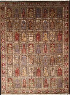 Felder  Nomaden traditionell Teppich  perserteppich  339 x 250 orient preproga