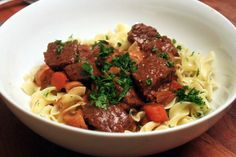 Dijon and cognac beef stew | amateur gourmet : I made this tonight! It was very good, but watch how much mustard you put in...