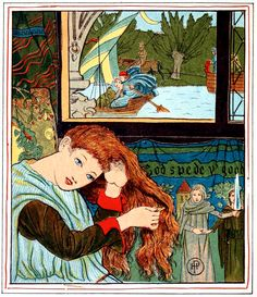 Art by Howard Pyle (c 1881) from LADY OF SHALOTT.