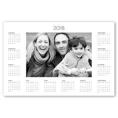 2018 Monthly Frame, White