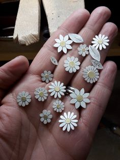 Handful of flowers, silver and 18ct gold. Diana Greenwood
