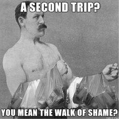 man's modern walk of shame