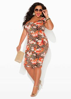 Ashley Stewart Web Exclusive Keyhole Back Floral Print