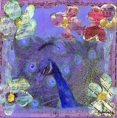 Mixed Media Peacock Art - Gipsy Rondo Painting