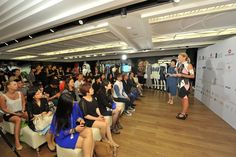Redress CEO, Christina Dean, speaks at the competition launch event for The EcoChic Design Award 2014 in Hong Kong #ECDA2014 #ecofashion #designcompetition #sustainability #hongkong