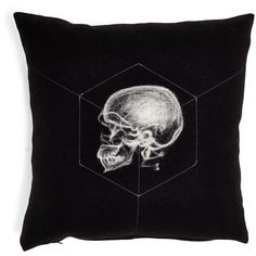 Skull Wool & Cashmere Pillow (13,830 PHP) ❤ liked on Polyvore