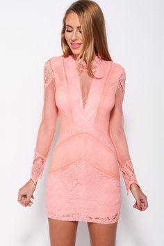 Chivalry Dress, Peach, $59 + Free express shipping http://www.hellomollyfashion.com/chivalry-dress-peach.html