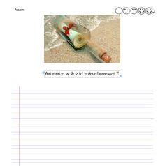 creatief schrijven. Flessenpost