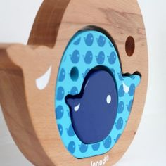 Whale jigsaw and decoration for babies