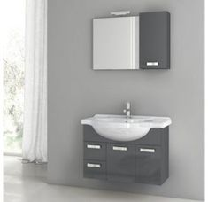 Buy the Nameeks ACF Glossy Red Direct. Shop for the Nameeks ACF Glossy Red ACF Wall Mounted / Floating Vanity Set with Wood Cabinet, Ceramic Top with 1 Sink and 1 Mirror and save.