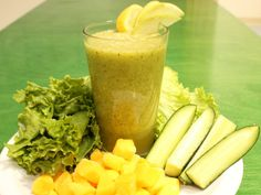 Green Machine Smoothie ~ Barley grass, a nutrient-dense grain, can help soothe inflammation and pain