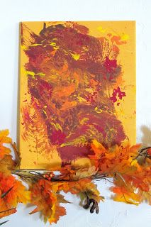 Fall Painting  A toddler Masterpiece. A few ways to use your child's art this fall in your home.