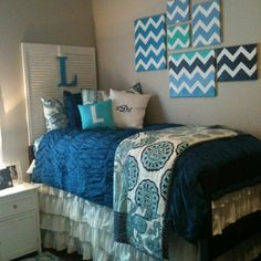 Navy with teal accents instead of all teal