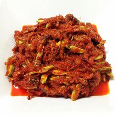Parkia Condiment With Anchovies or Sambal Ikan Bilis Petai