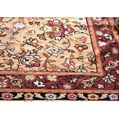 Vintage Persian Kelim  in wonderful Ziegler design in soft browns  peaches and beige