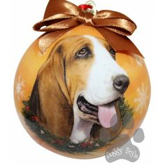 Basset Hound Shatterproof Dog Christmas Ornament http://doggystylegifts.com/products/basset-hound-shatterproof-dog-christmas-ornament