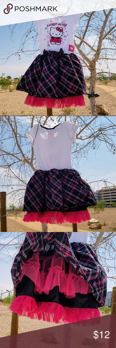 🎆HELLO KITTY PLAID DRESS🎆 - GIRLS - SIZE : Girls 4 - Brand : Sanrio Sanrio Dresses Casual