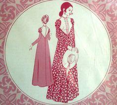 Vintage Hawaiian Dress Pattern Patterns Pacifica 3022 Bust 32.5 Factory Folded Regency Style. $10.00, via Etsy.