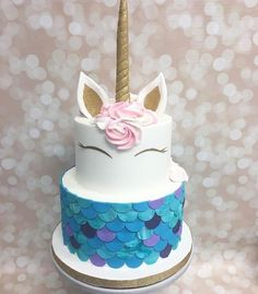 Birthday is a special day for everyone, and a perfect cake will seal the deal. Fantasy fictions create some of the best birthday cake ideas. Surprise your loved one with a creative cake that displays the best features of his/her favorite fantasy fictions! Pretty Cakes, Cute Cakes, Beautiful Cakes, Amazing Cakes, Unicorn Birthday Parties, Unicorn Party, Birthday Cake, Mermaid Birthday, 7th Birthday