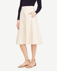 #Ann Taylor - #Ann Taylor Ann Taylor Tall Side Pocket Circle Skirt - AdoreWe.com