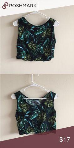 b4727a413a3afa AA palm tree sleeveless shirt slightly loose sleeveless top